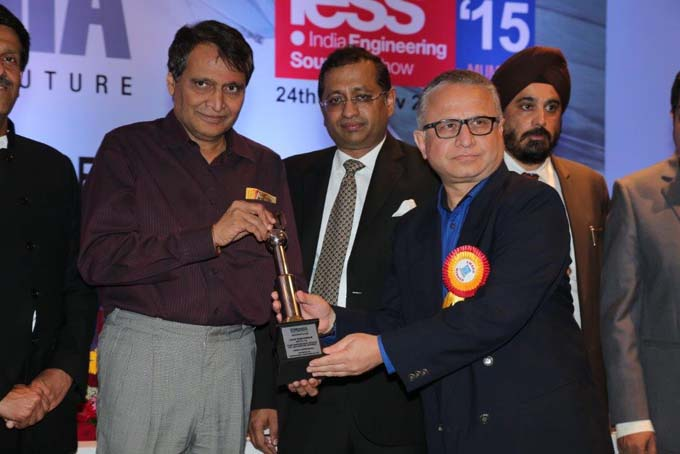 Technocraft has been awarded by Union minister of India Mr. Suresh Prabhu